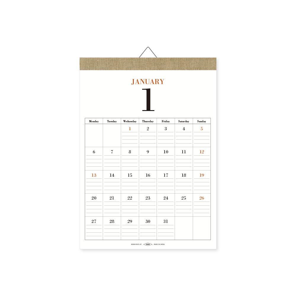 シンプルなカレンダーのおすすめ9選!壁掛け・卓上【2020年版】