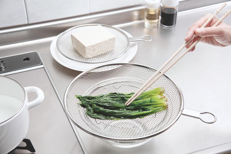 食材が重なりにくい《ざる屋の盆ざる》が便利すぎ!粗熱取り・水切り時間を短縮