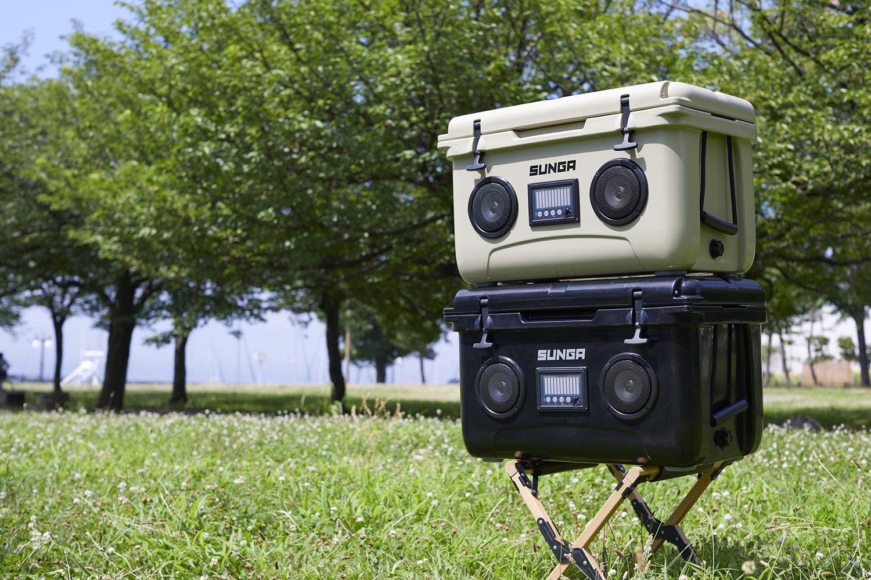 スピーカーとクーラーボックスが一体に!?真夏のキャンプに欠かせない存在になりそう