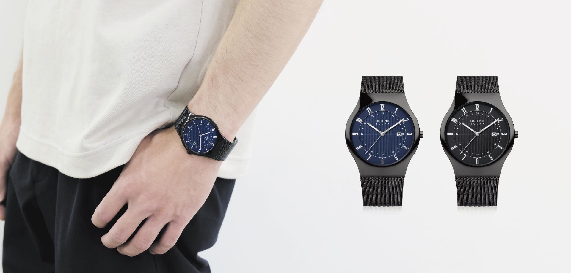 薄さ7mm!デンマークブランド「BERING」のソーラーウォッチは腕にもファッションにもフィット。