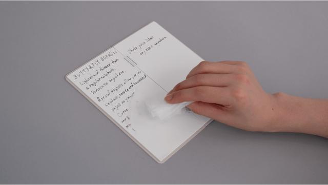 書いて消せてアプリで簡単スキャン!ホワイトボードみたいなノートがお利口さんすぎる